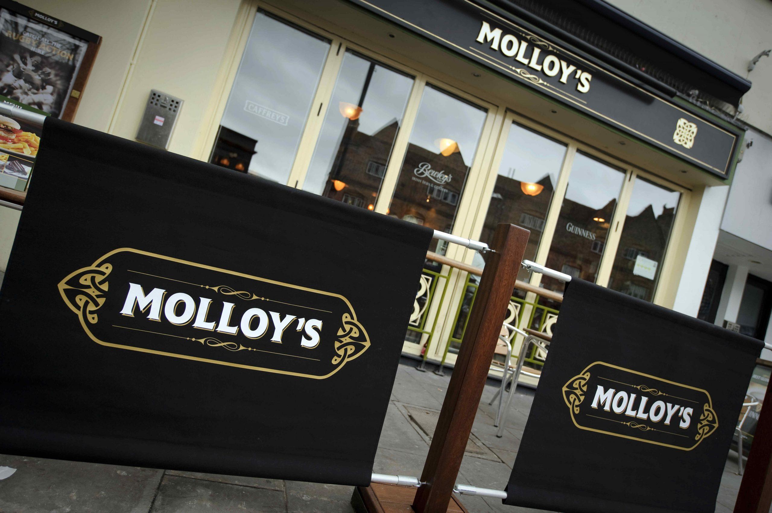 Raising a pint to launch Molloy's Irish pub chain